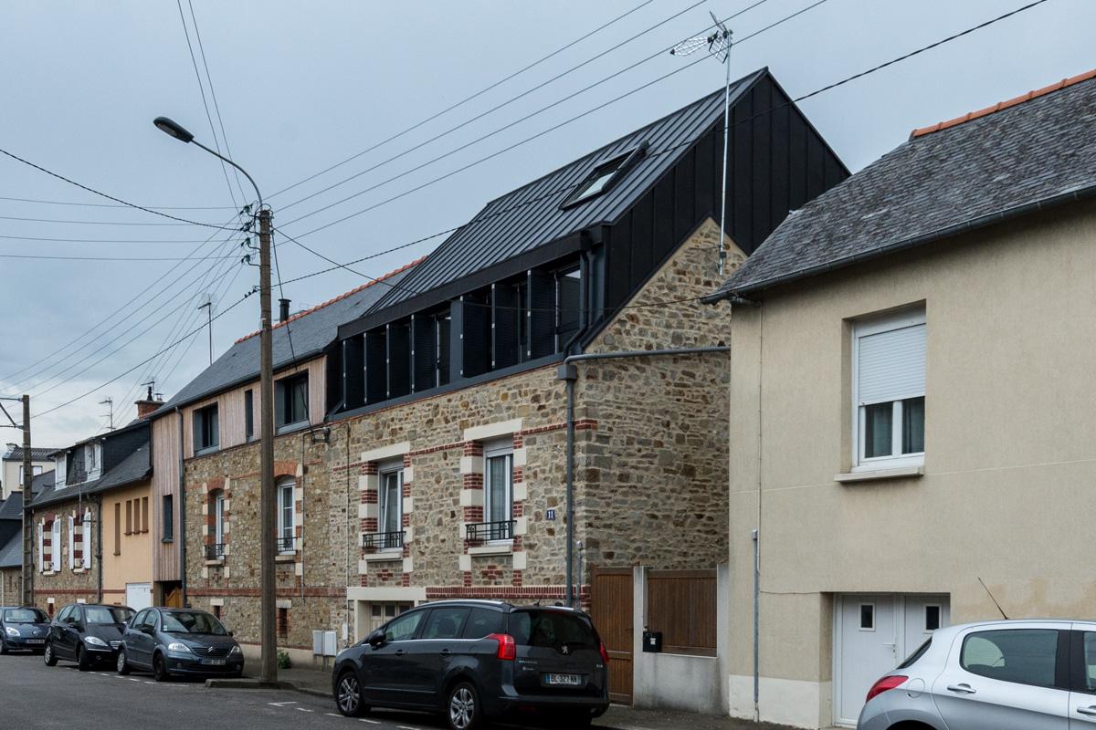 Maison sur l vation archiprim for Architecture rennes
