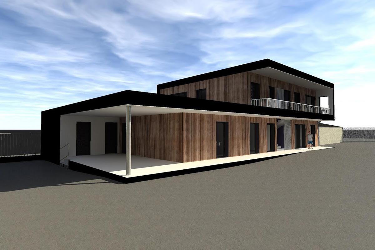 extension d une cole proximit de rennes projet en cours archiprim. Black Bedroom Furniture Sets. Home Design Ideas